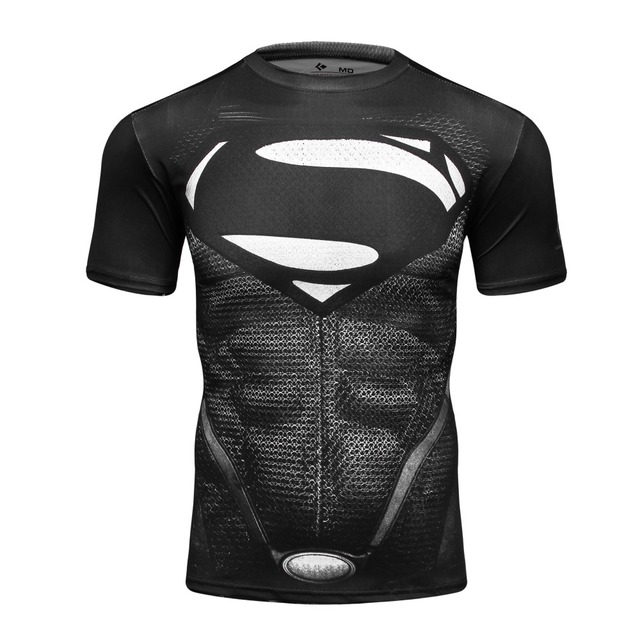 guangzhou clothing f actory black superman with s logo t shirt