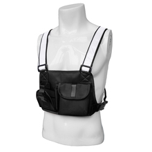 Outdoor Military Tactical Vest Radio Harness Chest Rig Multi-Purpose Hunting Camping bag Front Pack Pouch Holster Rig Carry outdoor hunting tactical chest rig adjustable padded modular military vest mag pouch magazine holder bag platform