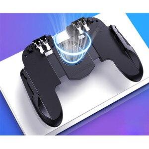 Image 5 - PUBG נייד בקר Gamepad עם Cooler קירור מאוורר עבור iOS אנדרואיד לסמסונג גלקסי L2R2 ג ויסטיק אין סוללה תקע ו לשחק