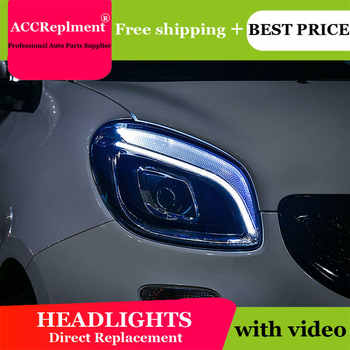 car styling For BENZ smart headlights  All LED 2015-2018 For BENZ smart LED light bar Q5 bi LED lens LED Bulb projector - DISCOUNT ITEM  17% OFF All Category
