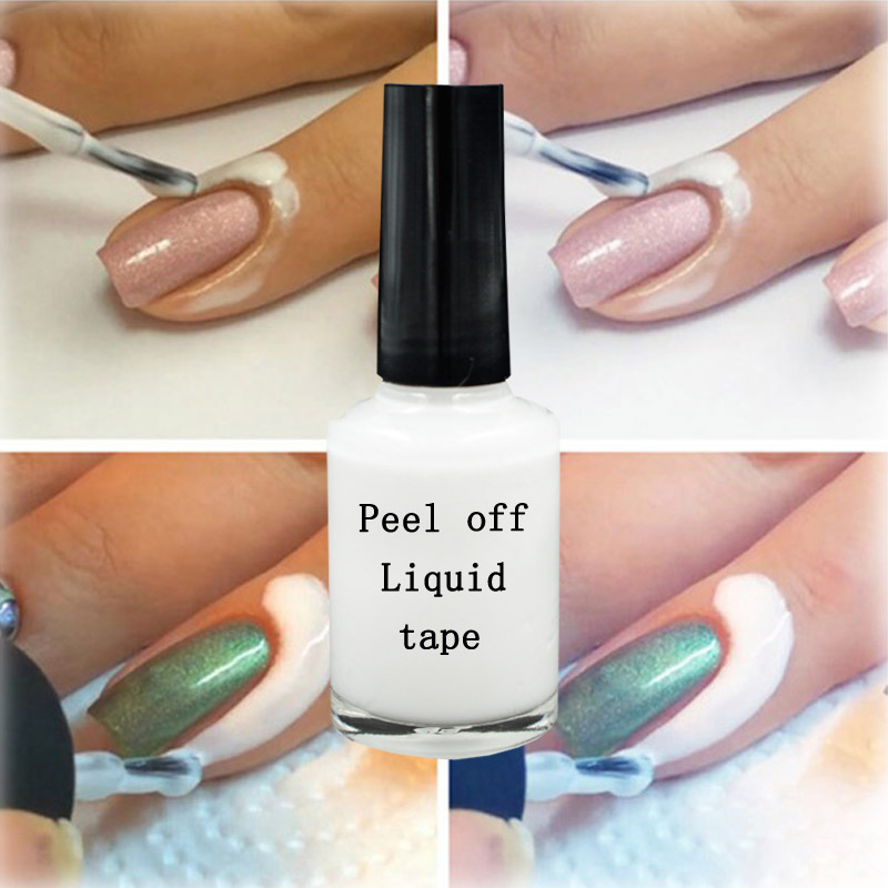 Liquid Latex Palisade L Off Nail Polish Tape Art Easy Clean Base Gel Coat 15ml In From Beauty Health On