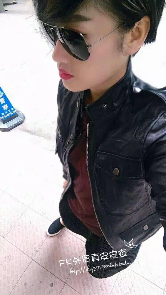 Factory Genuine Leather Jacket For Women 100% Real Goat Skin Black Soft Slim Multiple Pockets Women's Leather Spring Autumn Coat
