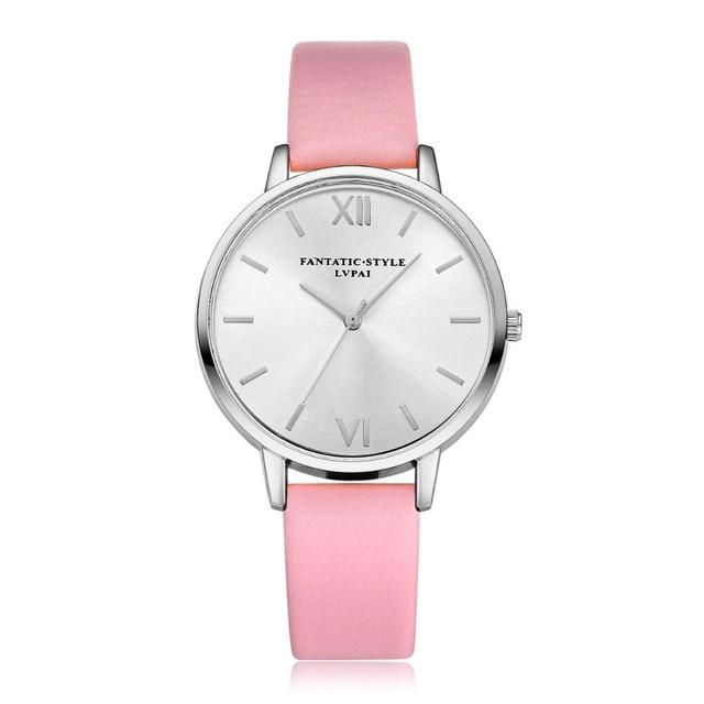 d4ef561808c Relogio feminino Relógio Das Mulheres Relógios Lvpai Marcas Famosas Grandes  Mostrador do Relógio de Couro PU