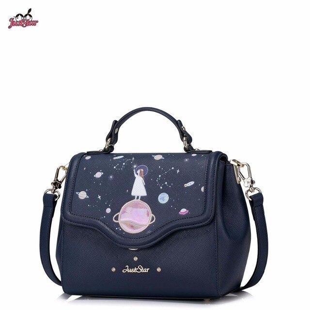 Just Star Brand Design Star Dream Fashion PU Women Leather Girls Ladies Handbag Shoulder Crossbody Bags