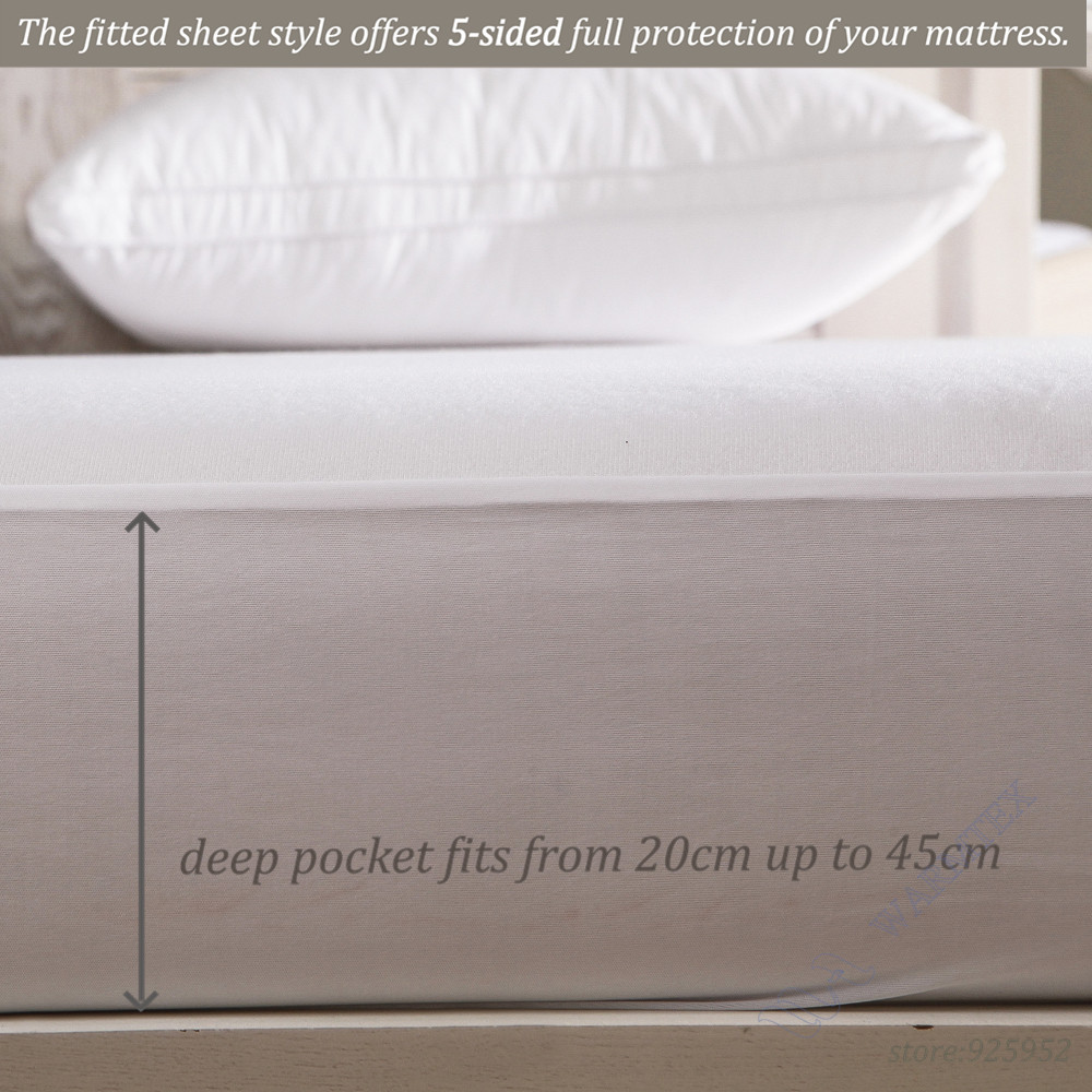 US High quality Customized Basic knit Waterproof Mattress Cover/ Mattress Protector Full 135x200 fits matress 20cm to 30cm
