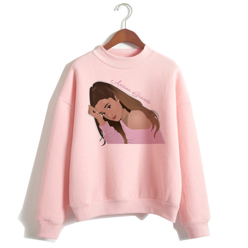 Ariana Grande Sweatshirt 19 No Tears Left To Cry Hoodie Women Print God Is A Woman Sweatshirts Pullover hoodies Harajuku 11