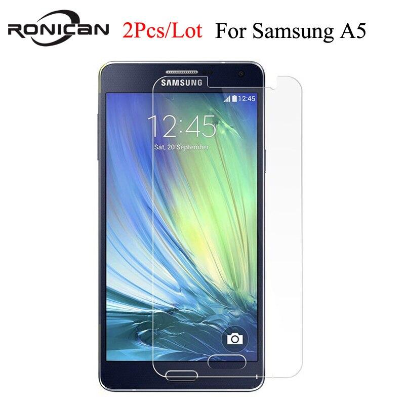 Galleria fotografica 2PCS Screen Protector sFor <font><b>Samsung</b></font> <font><b>Galaxy</b></font> A5 Glass A500 2015 Tempered Glass For <font><b>Samsung</b></font> <font><b>Galaxy</b></font> A5 2015 Phone Film For <font><b>Samsung</b></font> A5