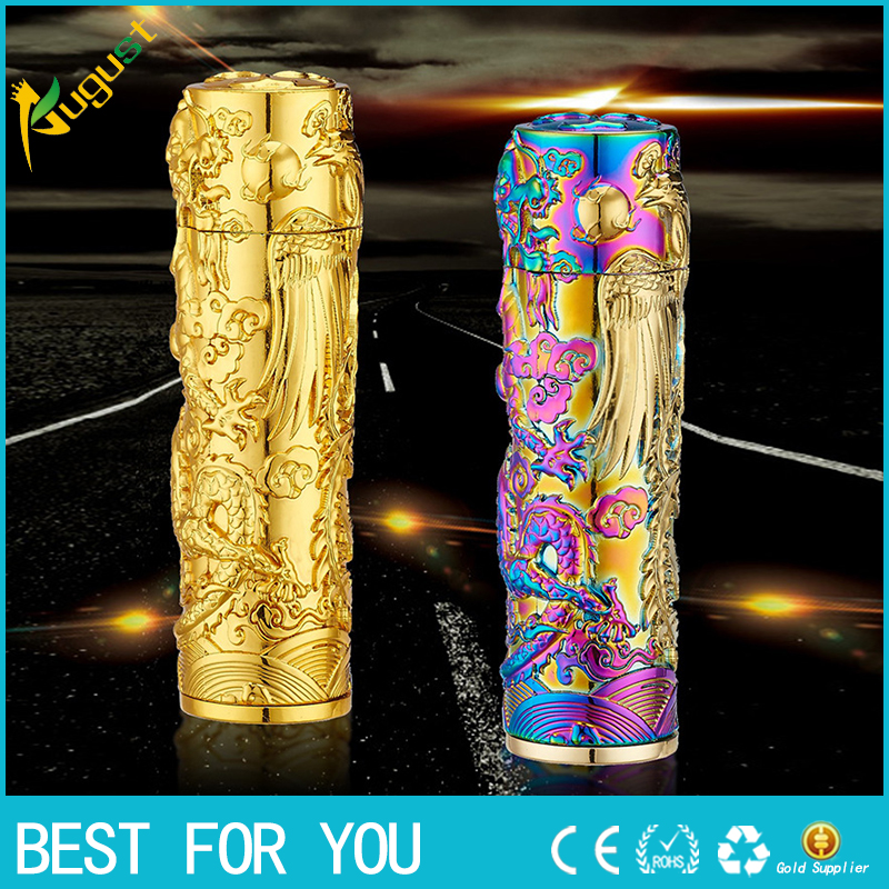 1pc Shake the columned cigarette lighter green USB charging stereo anaglyph windproof metal lighters LIGHTER pipe