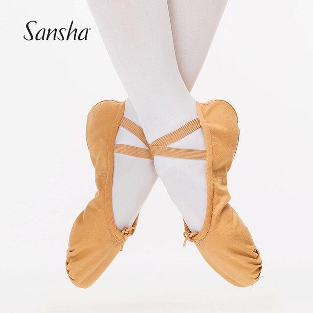 Sansha The Original Pro1C Canvas Split-sole Soft Dancing Shoes Front Sole  Hand-stitched Ballet Dance Slippers NO.1C c663f48da558