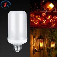 ZjRighrt E27 Led Flame Effect Light Bulb Living Room Bedroom Restaurant Energy Saving Street Landscape Garden