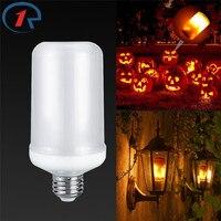 ZjRight E27 Led Flame Effect Light Bulb Living Room Bedroom Restaurant Energy Saving Street Landscape Garden