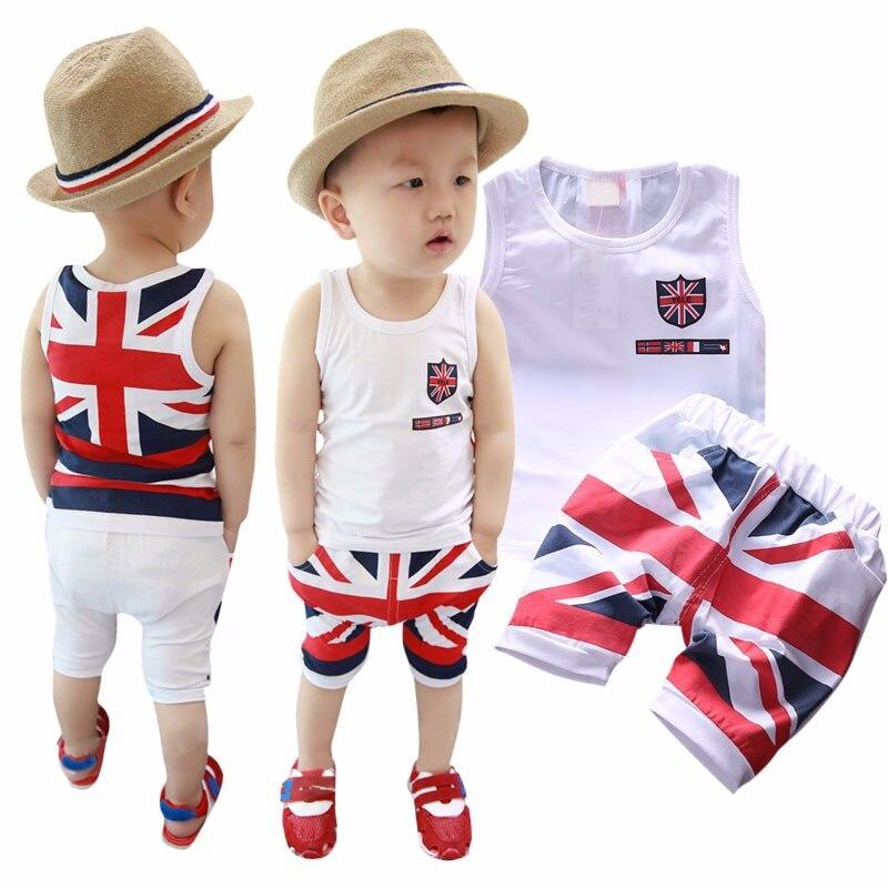 Mode D'été Bébé Garçons Vêtements Ensembles Roupas Infantile 11