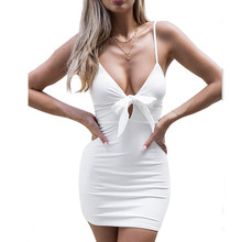 Fashion New Sexy Dress With Close-Fitting Evening Summer Dress Women'S Evening V-Neck Sleeveless Party Dress 2019 Women Clothes crisscross v neck form fitting dress
