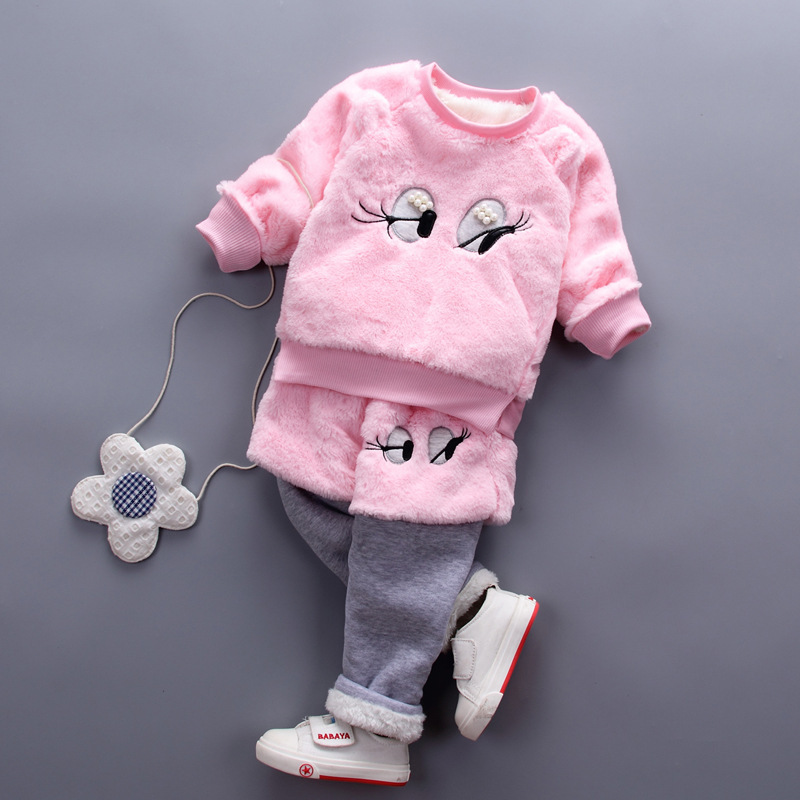 2017 childrens clothing sweater autumn and winter new round collar hedging small men and women sweater suit Korean sweater