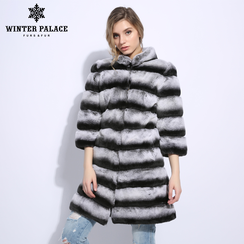 Véritable D'hiver Manteau Grey Femmes Mode Épais De Beige Color Chaud Rex Manteaux transition brown Pour Veste Doux Fourrure Lapin dark Sxq8d