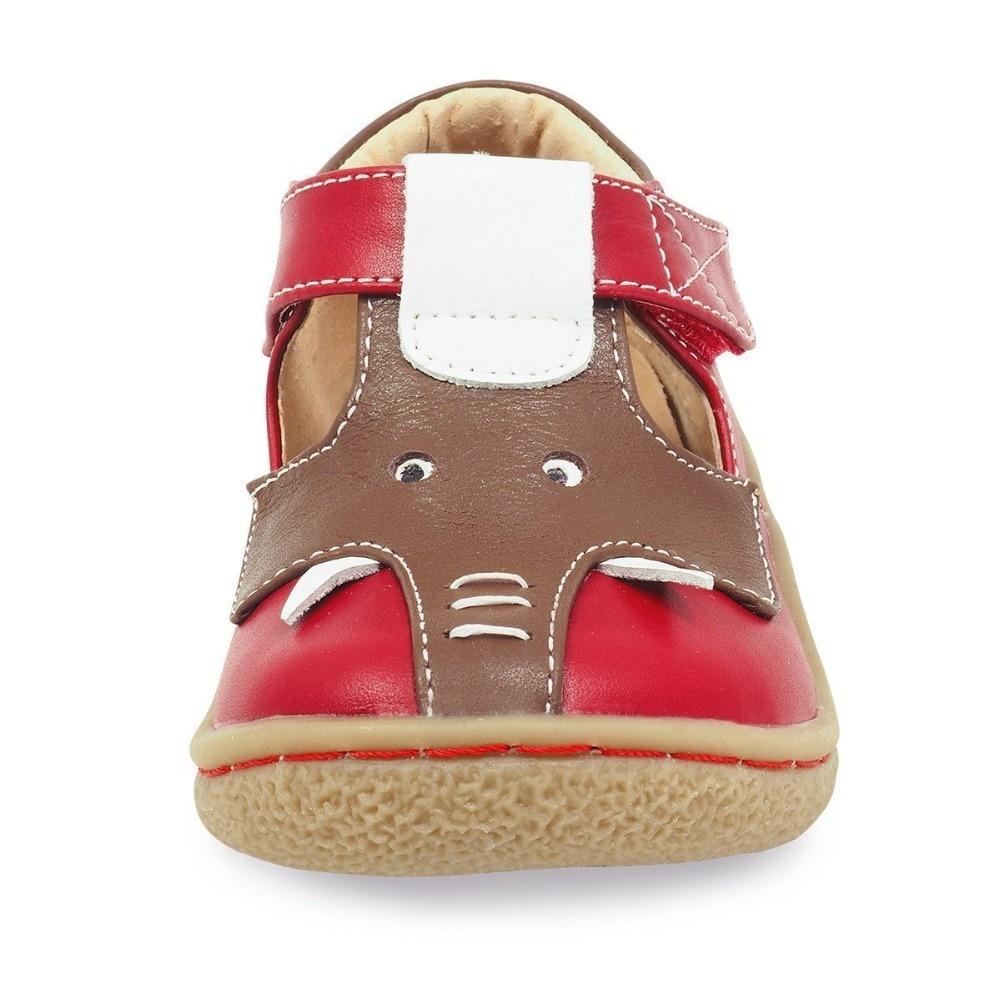 TipsieToes superior calidad de marca de cuero genuino niños bebé niño niña niños elefante zapatos de moda pies zapatillas de deporte - 5