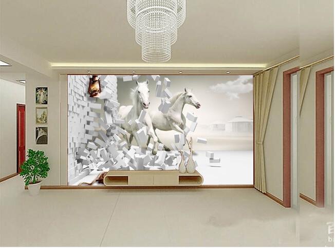Carta Da Parati Soggiorno Classico : ᗑcavallo personalizzato carta da parati 3d pentium cavallo per