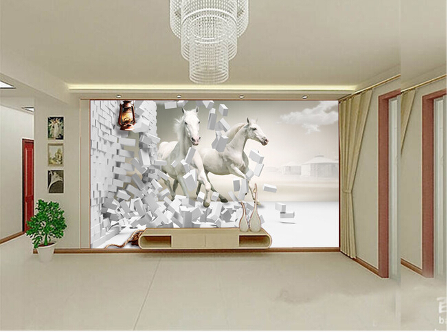 Custom horse wallpaper 3D, Pentium horse for living room bedroom TV background wall waterproof silk cloth papel de parede custom papel de parede infantil spiderman 3 d mural for bedroom of children room background wall silk cloth wallpaper