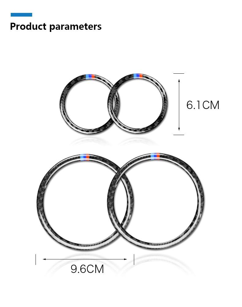 Airspeed for BMW F25 X3 X4 F26 X4 BMW F26 F07 Sticker for BMW X3 F25 Carbon Fiber Interior Trim Stickers Car Door Speaker Ring (12)