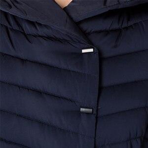 Image 5 - ASLTW femmes manteau dhiver nouveau mode décontracté femmes de haute qualité Parkas manteau Long avec ceinture à capuche marque Plus la taille 4XL vestes chaudes