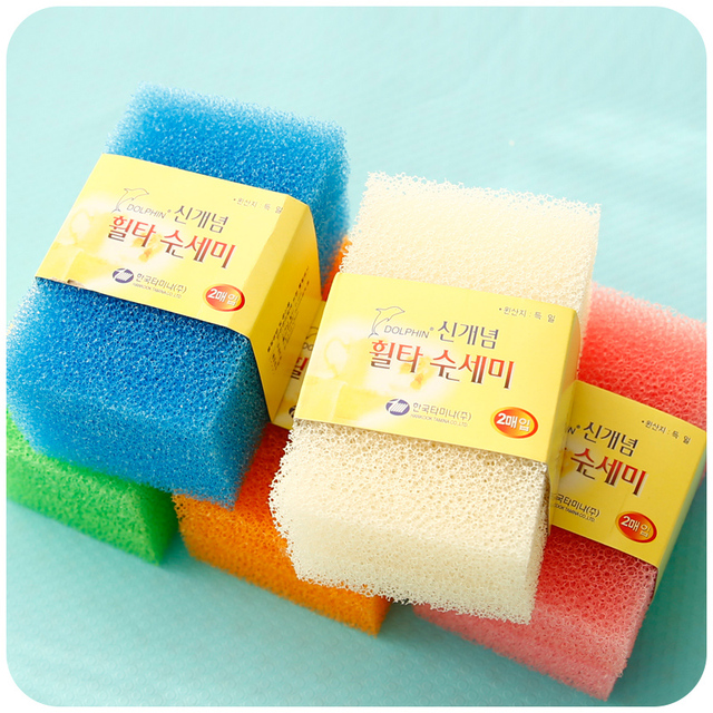 Rushed 4 Pcs Eco friendly Magic Sponge Soft Kitchen Sponge Super ...
