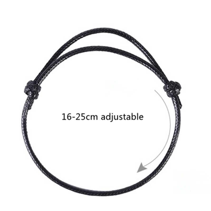 2018 новый простой браслет ручной работы женские и мужские ретро тесьма браслет Мир Шарм Браслеты, бижутерия 16-25 см регулируемый
