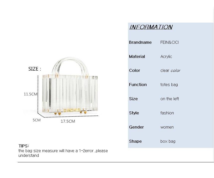 Sac fourre-tout Transparent Transparent acrylique PVC boîte en plastique sac Dubai femmes fille vintage rétro soirée sac à main 2019 nouveau sac d'été - 4