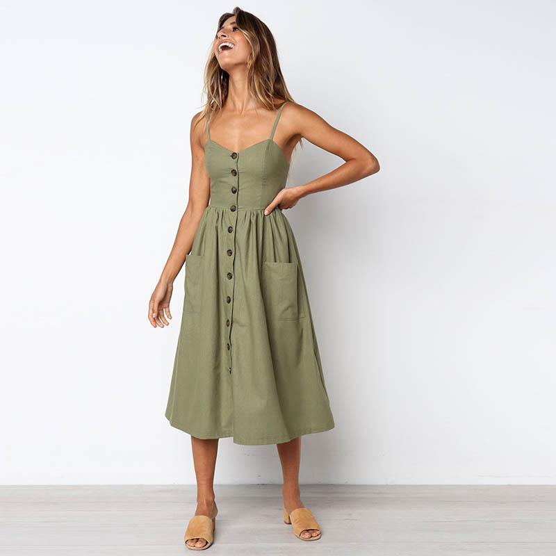 f3dd8d4d82e Plus Size Maxi Dress Real Summer Sleeveless Loose V-neck Spaghetti Strap  Natural 2018 New