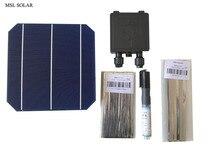 ALLMEJORES células solares monocristalinas de alta calidad, 4,7 W, 19.2% de eficiencia, panel solar de bricolaje de grado A, repuestos gratis