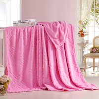 1 Pcs Flannel Blankets Geometric Plaid Pure Color Coral Warm Soft Blankets For Beds Sofa Home