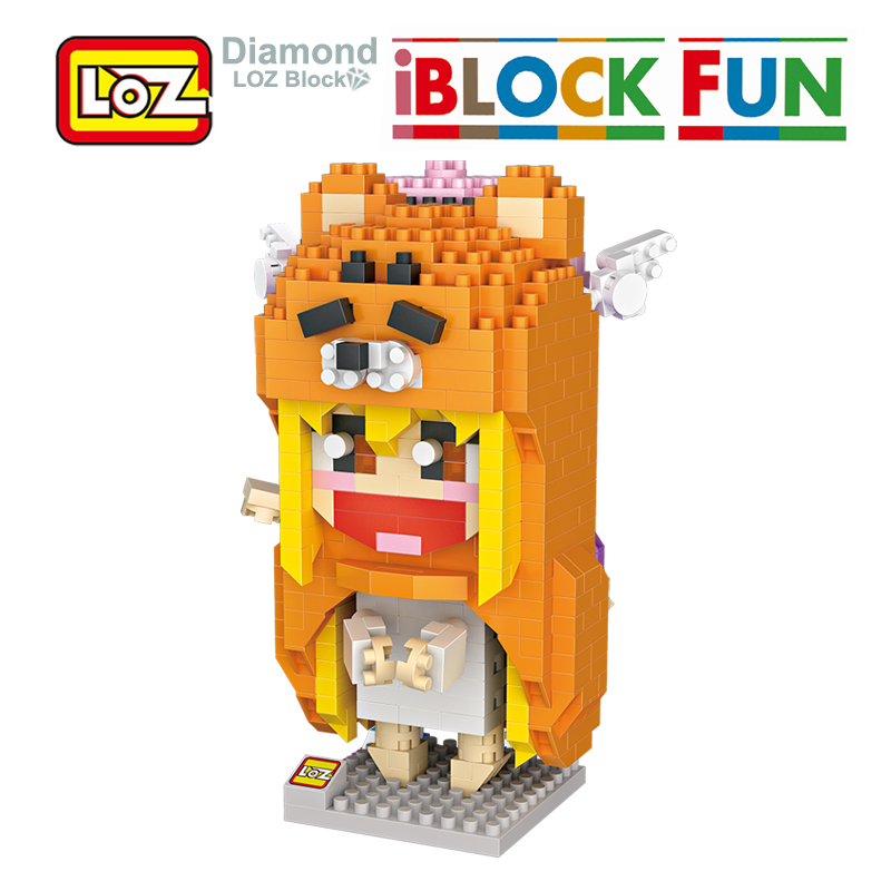 LOZ Umaru Himouto Umaru-chan Building Diamond Blocks Model Toys 650Pcs Action Figure Toy For Age 14+ Offical Authorized 9751 loz blocks diamond building blocks toys action figure the sheep 3d bricks quiz gift toy particles assembled blocks for kids