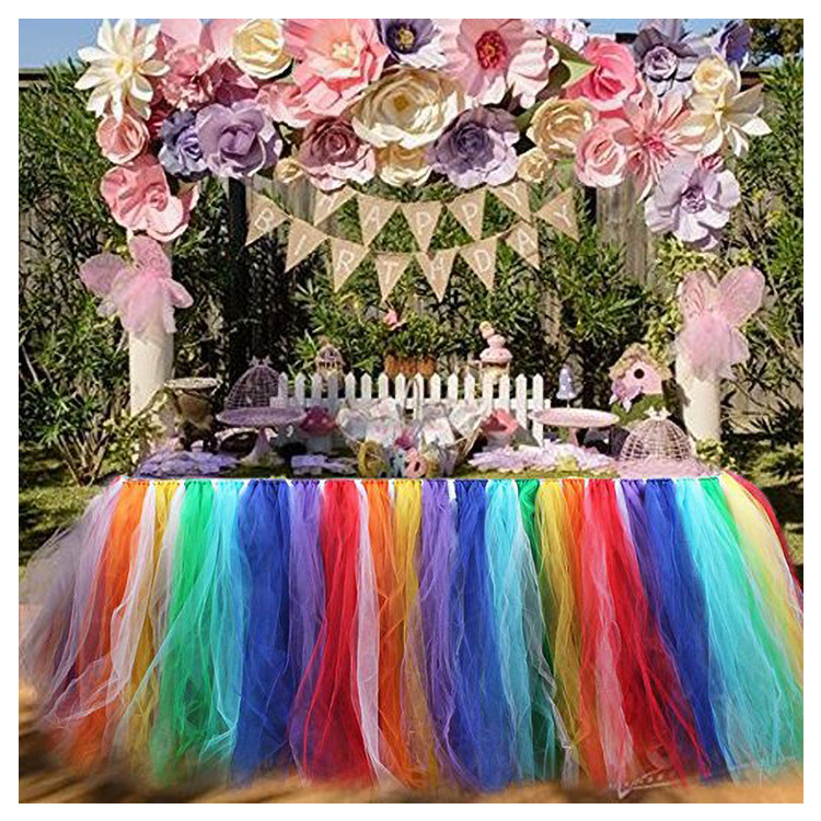 Holiday Vacation Room House Decor Colours Table Skirt Wedding Ceremony Festival Feast Halloween Carnival Birthday Party Decor