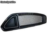 RTR Style Carbon Fiber With ABS Front Bumper Mesh Grill Grille Car Styling For Ford Mustang