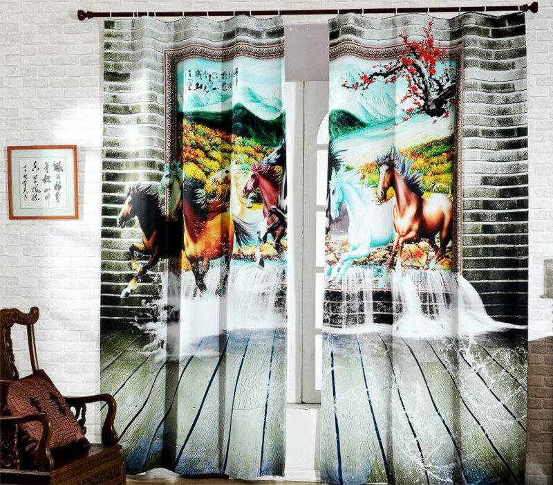 Horses 3D Painting Blackout Curtains Office Bedding Room Living Room Sunshade Window Curtain 3D Curtains Bedding setHorses 3D Painting Blackout Curtains Office Bedding Room Living Room Sunshade Window Curtain 3D Curtains Bedding set