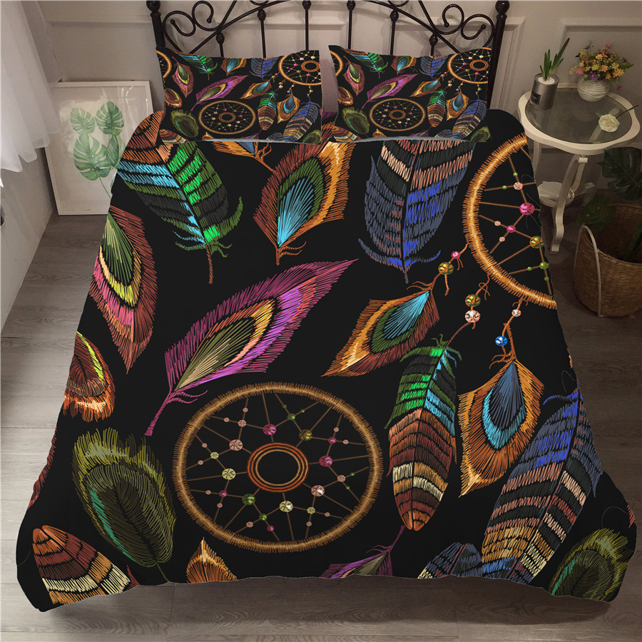 Bedding Set 3D Printed Duvet Cover Bed Set Dreamcatcher Bohemia Home Textiles For Adults Bedclothes With Pillowcase BMW09
