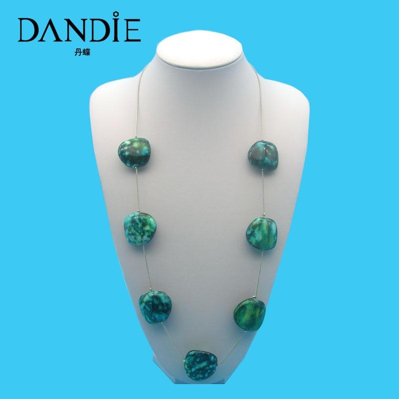 Dandie Fashion Handmade Long Chain  Acrylic Bead Jewelry Necklace For Women,Daily Wear