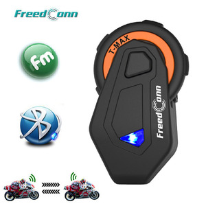 Image 1 - T Max Motorfiets Bluetooth Helm Intercom Headset Groep Talk Systeem 1000M Bluetooth 4.1 6 Riders Bt Interphone + fm Radio