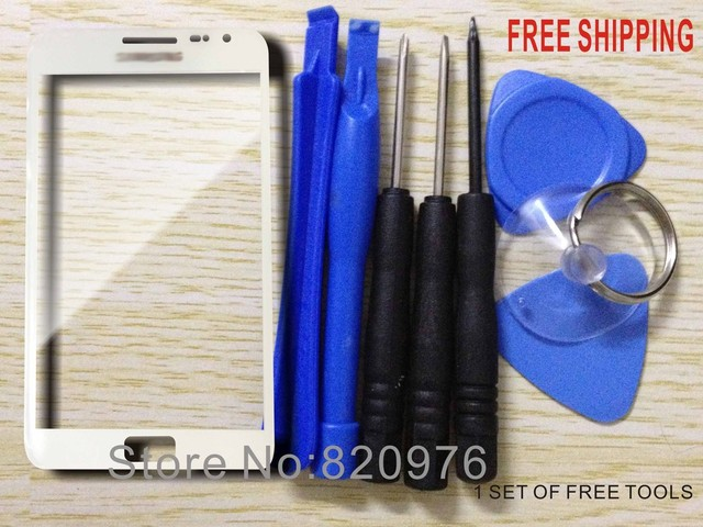 Free shipping Original Outer LCD Touch Screen Lens Top Replacement Glass for Samsung Galaxy Note N7000 i9220 9220 7000+tools