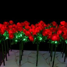 70CM Led Yellow red flowers light Outdoor Indoor Christmas Wedding Holiday party Light Garden patio manor villa lawn Deco