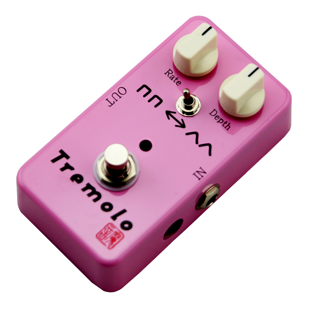 Moen Tremolo Effect Pedal Rate Depth Control Electric Guitar Effects AM-TR True Bypass mooer ensemble queen bass chorus effects effect pedal true bypass rate knob high quality components depth knob rich sound
