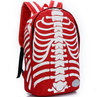 Skeleton Printed Design Unisex Backpack