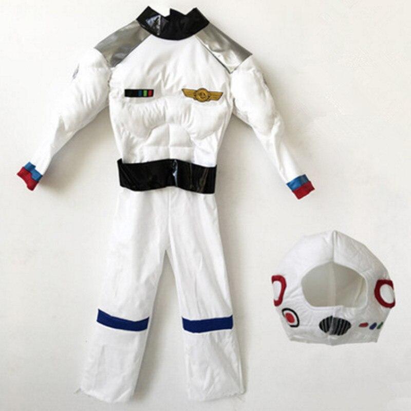 Astronauta costumi per i bambini astronauta costume costumi di halloween per i bambini divertente muscle cosplay abbigliamento