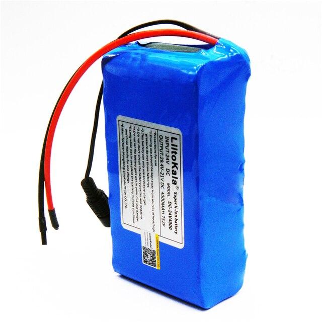 香港 LiitoKala 7S2P 24 V 4Ah 18650 バッテリーパック 29.4 V 4000 mAh 充電式バッテリーミニポータブル充電器 LED /ランプ/カメラ