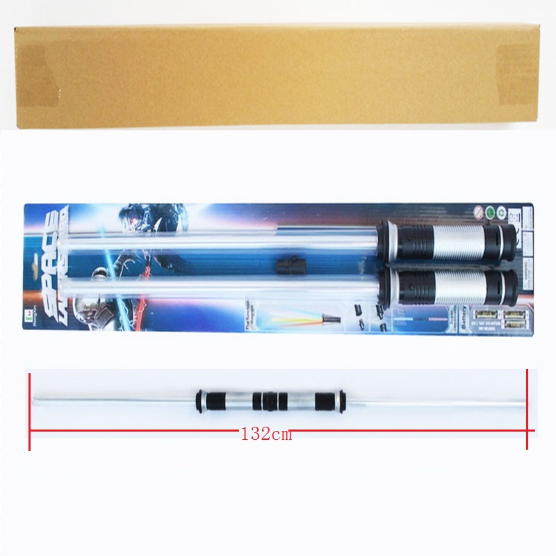 2pcs lot Star Wars Lightsaber Led Flashing Light Sword Toys Cosplay Weapons Can Mutual percussion Sabers