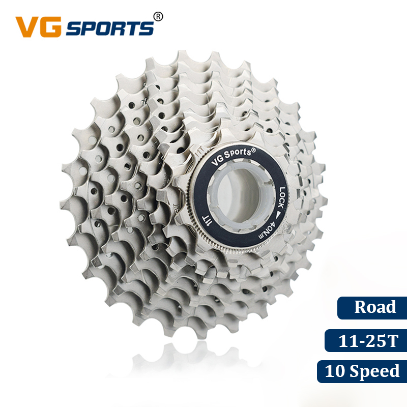 VG Sports Road Bike 10 Speed Cassette 10 Velocidade 10S 25T Bicycle Parts Cassete Freewheel Sprocket