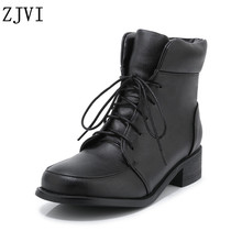 ZJVI 2019 winter woman snow boots for women platform ankle warm gils children ladies low heels shoes kids red black
