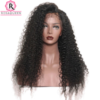 360 Lace Frontal Wig Pre Plucked With Baby Hair 180% Density Curly Brazilian Lace Front Human Hair Wigs Full End Rosa Queen Remy
