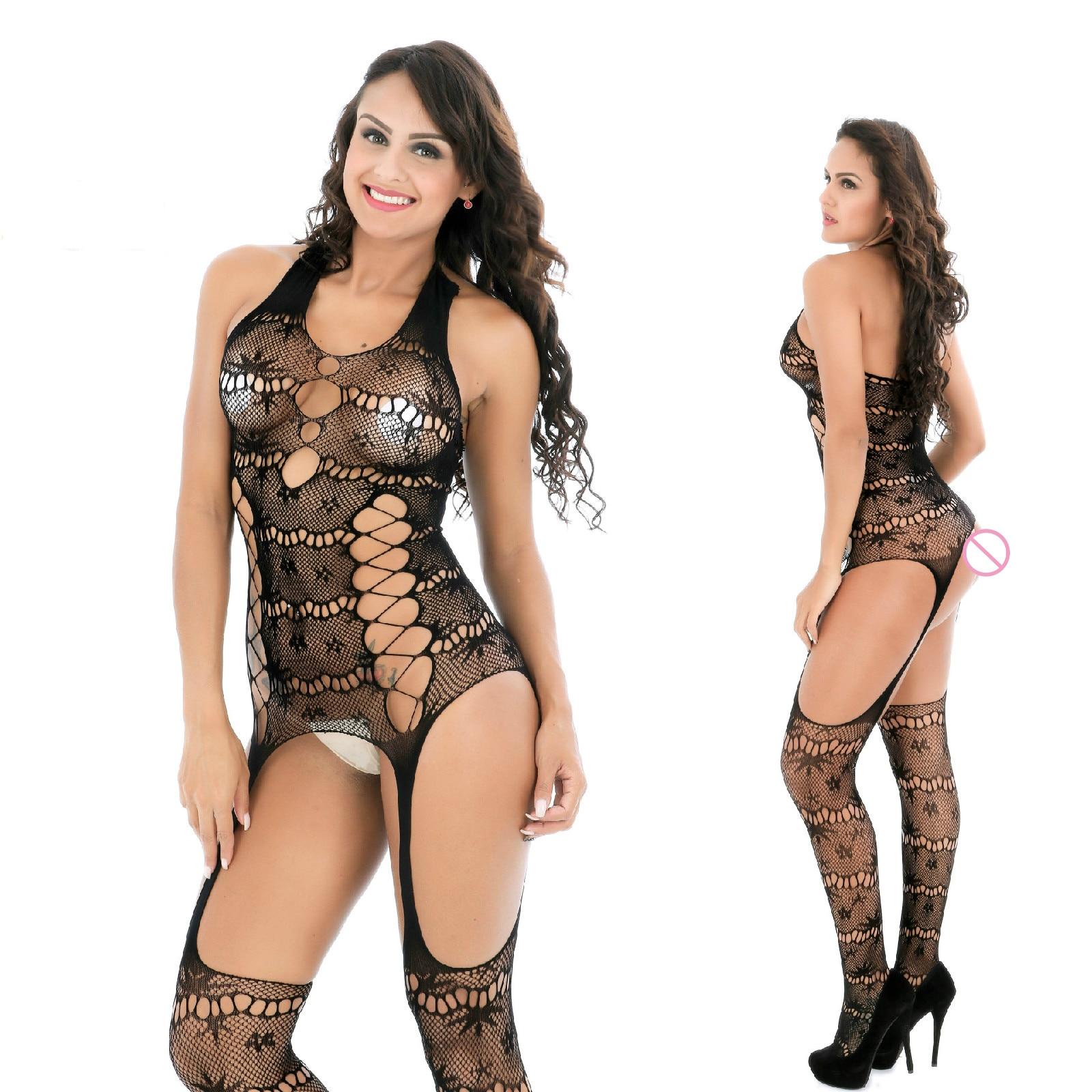 De Goedkoopste Prijs Sexy Panty Kousen Sexy Lingerie Hoge Elastische Strakke Hol Mesh Erotische Netto Jurk Perspectief Open Kruis Bodysuits Uitgebreide Selectie;