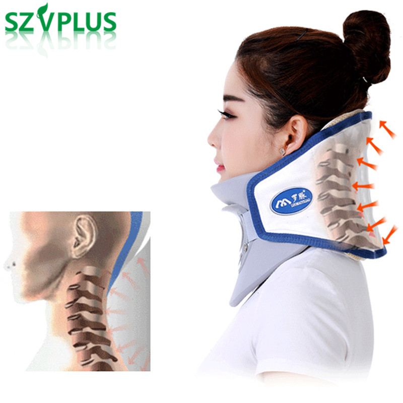 neck collar correct cervical spine traction device inflatable collar household equipment health care massage device nursing care ifory health care inflatable cervical collar traction device neck stretcher protector vertebra traction massager medical care