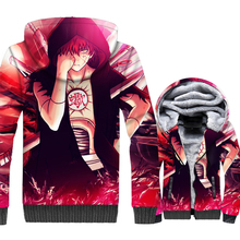 casual wool liner jackets 3D Printed zip tracksuits Anime Naruto Thitara Sanri Nagato sweatshirt men 2018 winer Thick swag coats